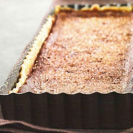Recette de la tarte au caramel et cacao