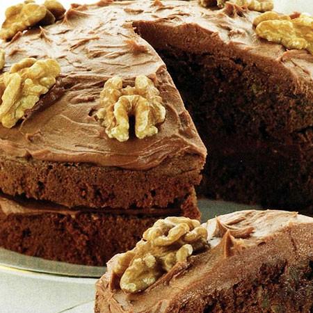 Recette du Gâteau au chocolat et aux noix