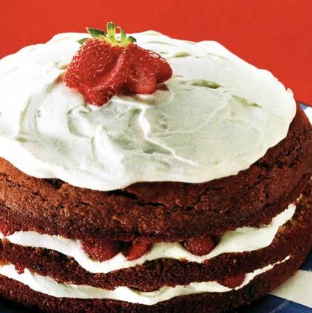 Recette du Gâteau éponge chocolat au yaourt et aux fraises
