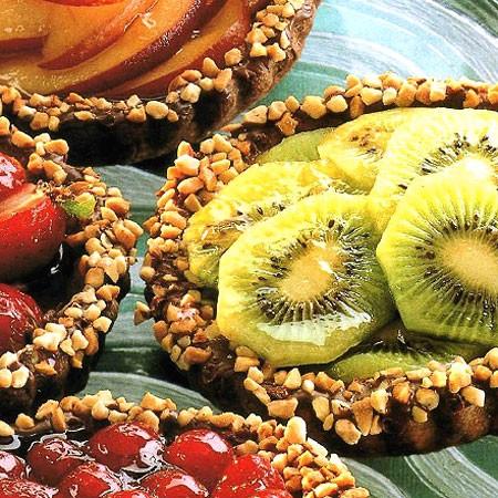 Recette des tartelettes en chocolat garnies de fruits frais